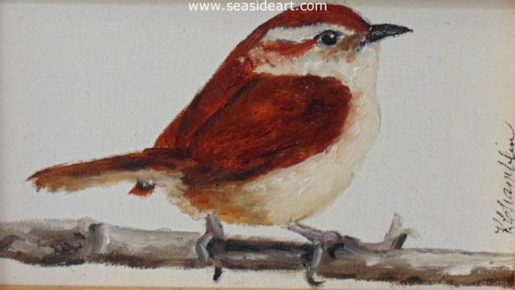 Carolina Wren #4 by Karen Chamblin - Seaside Art Gallery