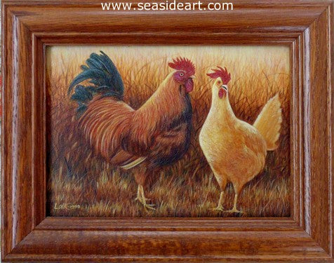 Hen & Rooster by N.W. Lalk - Seaside Art Gallery