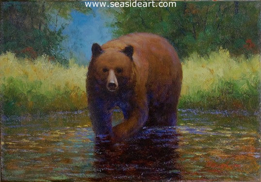 Cinnamon Bear by Jon Houglum - Seaside Art Gallery