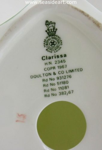 Clarissa by Royal Doulton - Seaside Art Gallery
