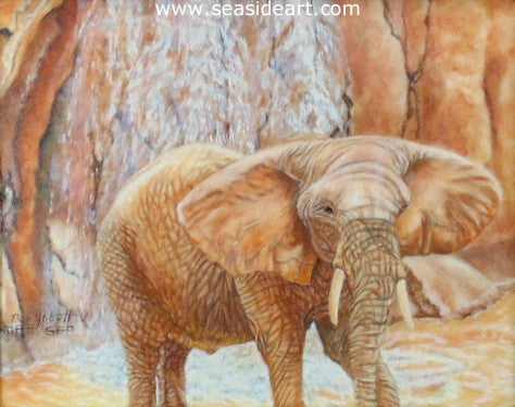 Elephant by the Waterfall II
