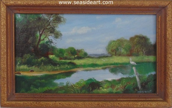 Elizabeth River by Bob Browne - Seaside Art Gallery
