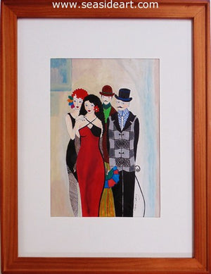 Esme and Entourage by Elaine Sweiry - Seaside Art Gallery