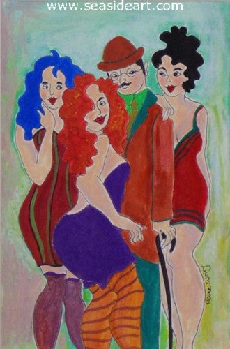 Flirty Girls by Elaine Sweiry - Seaside Art Gallery