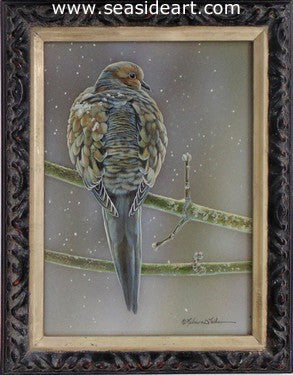 Flurries (Mourning Dove) by Rebecca Latham - Seaside Art Gallery