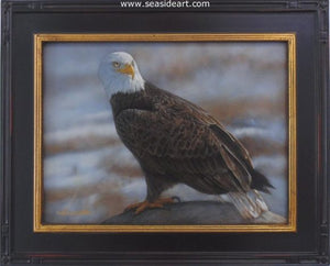 Freedom's Solace-Bald Eagle by Bonnie Latham - Seaside Art Gallery