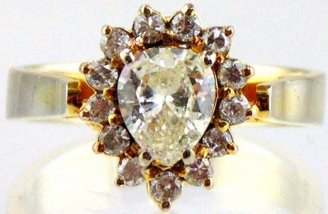 Diamond Ring 10kt Two Tone Gold by Jewelry - Seaside Art Gallery