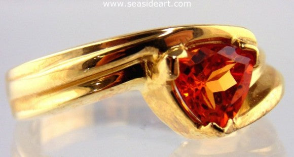 Spessartite Garnet 14kt Yellow Gold Ring by Jewelry - Seaside Art Gallery