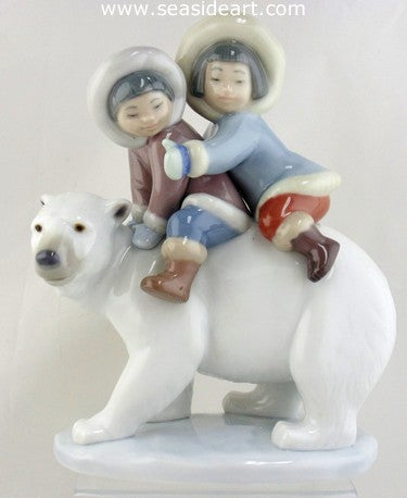 Eskimo Riders by Lladro - Seaside Art Gallery