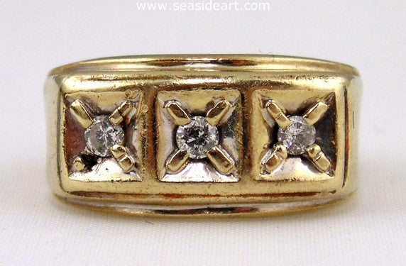 Diamond Gents Ring 14K Yellow Gold