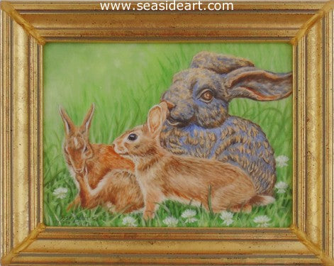 Garden Bunny Buddies by Beverly Abbott - Seaside Art Gallery