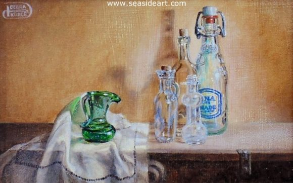 Glass Half Full by Debra Keirce - Seaside Art Gallery