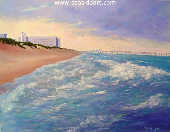 Gone Fishing - Old Nags Head Jennette's Pier by Pat Williams - Seaside Art Gallery