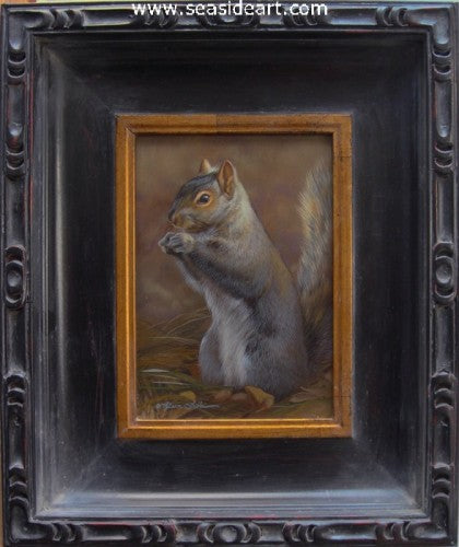 Grassy Spot-Gray Squirrel II by Rebecca Latham - Seaside Art Gallery