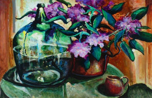 Green And Purple by William Leon Stacks - Seaside Art Gallery