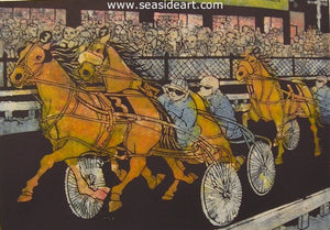 The Harness Race by Louise August - Seaside Art Gallery