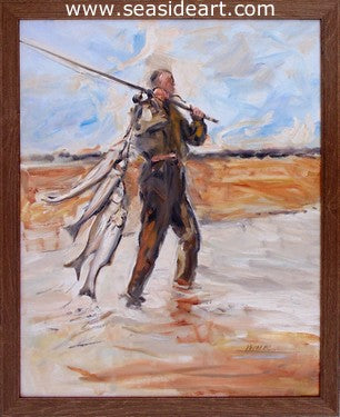 Hatteras Man-A Great Day for Fishing by Gregory Kavalec - Seaside Art Gallery
