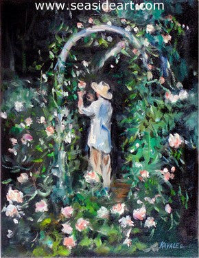 In The Rose Garden by Gregory Kavalec - Seaside Art Gallery