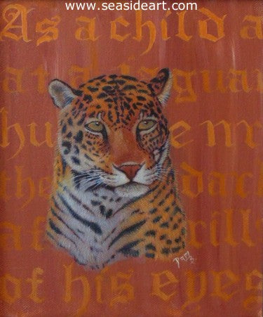 Jaguar Night by Pamela Brown Broockman - Seaside Art Gallery