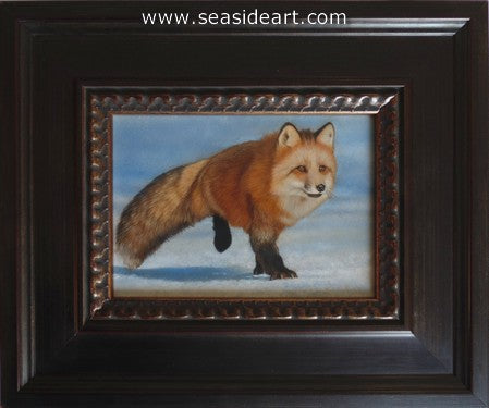Snow Shadows I-Red Fox by Karen Latham - Seaside Art Gallery