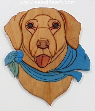 Yellow Lab with Scarf