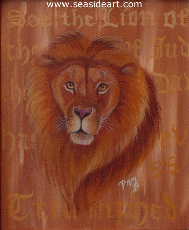 Lion of Juda by Pamela Brown Broockman - Seaside Art Gallery