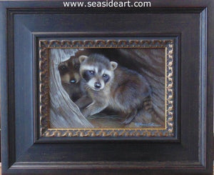 Little Rascals I – Raccoon Kits by Rebecca Latham - Seaside Art Gallery