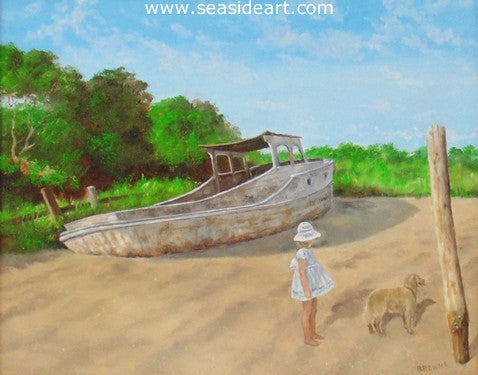Lucy And Woolfie by Bob Browne - Seaside Art Gallery