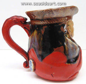 19/20th C Small Pitcher with Monk's Face