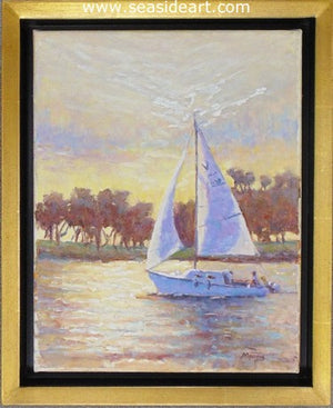 Morning Sail by Suzanne Morris - Seaside Art Gallery