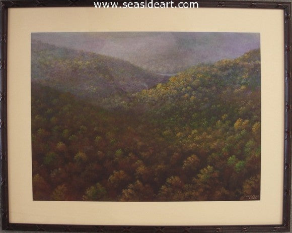 Mountain Landscape #2-Trees by Chester Martin - Seaside Art Gallery