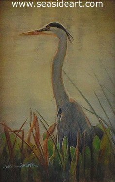 Latham B-Into the Blue(Great Blue Heron)