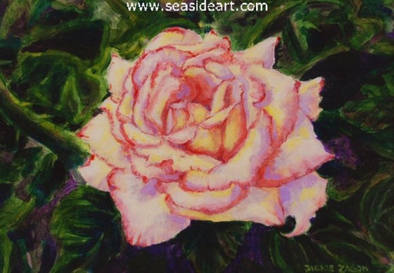 Peace Rose by Jackie Zagon - Seaside Art Gallery