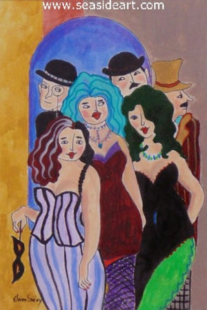 La Pigalle by Elaine Sweiry - Seaside Art Gallery
