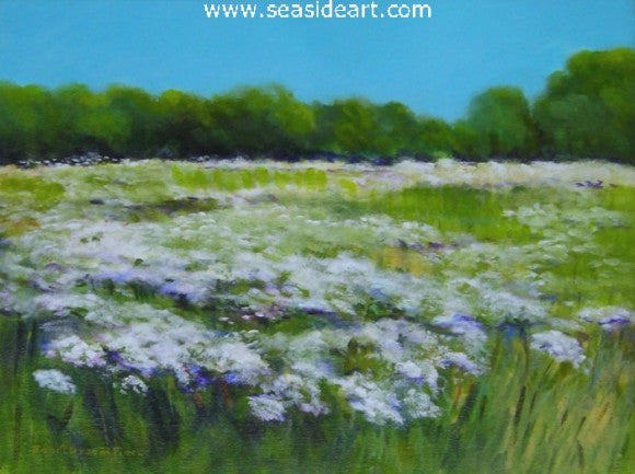 Queen Anne's Lace by Janet Groom Pierce - Seaside Art Gallery