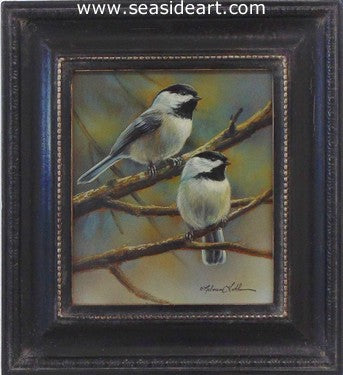 Quiet Dawn (Chickadee Pair)