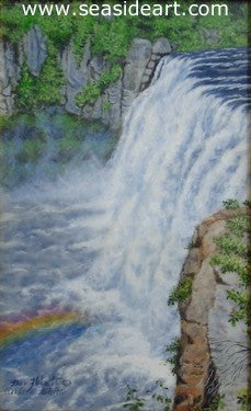 Rainbow Falls by Beverly Abbott - Seaside Art Gallery