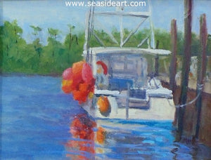 Red Buoys by Suzanne Morris - Seaside Art Gallery