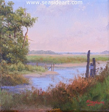Roanoke Tide Channel by Jon Houglum - Seaside Art Gallery