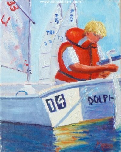 Sailing Camp by Suzanne Morris - Seaside Art Gallery