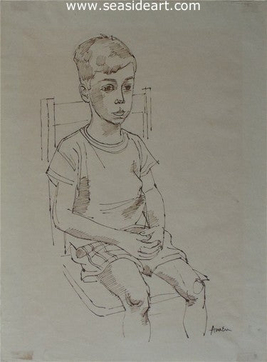 Young Boy by Irving Amen - Seaside Art Gallery