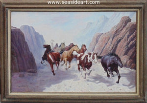 Stampede by Mohan Lal Sharma - Seaside Art Gallery
