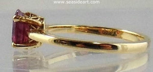 Ruby Ring 14kt Yellow Gold by Jewelry - Seaside Art Gallery