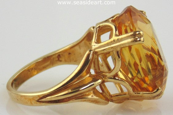 Citrine Ring 14kt Yellow Gold by Jewelry - Seaside Art Gallery