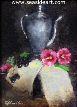 Silver and Grapes by Karen Chamblin - Seaside Art Gallery