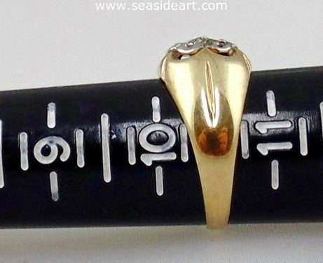 Diamond Man's Ring 10k Two-tone Gold