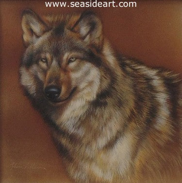 Spectator – Wolf by Rebecca Latham - Seaside Art Gallery