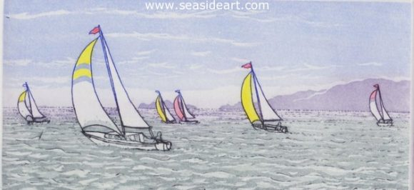 Spinnakers I by Stephan Whittle - Seaside Art Gallery