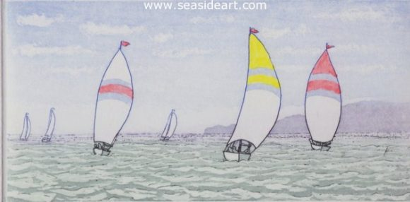 Spinnakers II by Stephan Whittle - Seaside Art Gallery