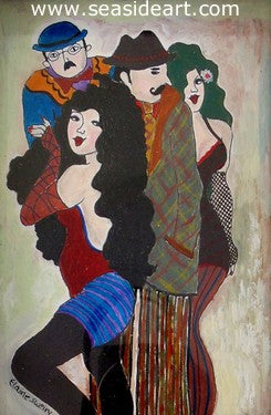 Stockings And Hats by Elaine Sweiry - Seaside Art Gallery